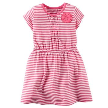 Carter's Stripe Knit Dress - Toddler Girl, Size: