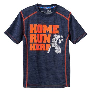 Disney's Mickey Mouse ''Home Run Hero'' Active Tee by Jumping Beans - Boys 4-7x, Size: