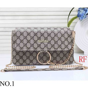 GUCCI Women's Hipster High Quality Elegant Leather Tote F-RF-PJ NO.1