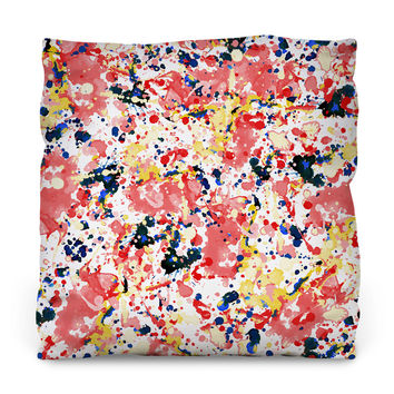 Watercolor Splash Outdoor Throw Pillow