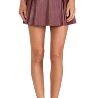 Susana Monaco Slim Skirt in Burgundy