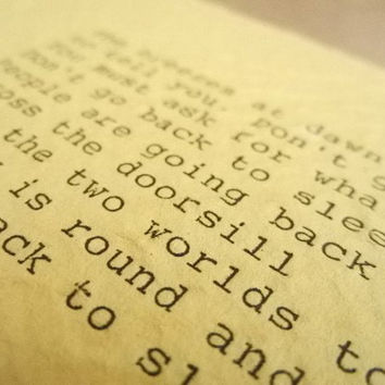RUMI Poem Hand Typed Quote Typed with Vintage Typewriter Art Paper Goods Cards RUMI QUOTE