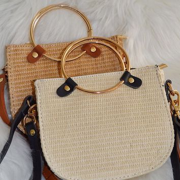 Weekender Straw Crossbody Bag