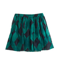 Girls' abstract plaid skirt