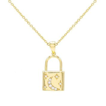 Crescent Lock Necklace