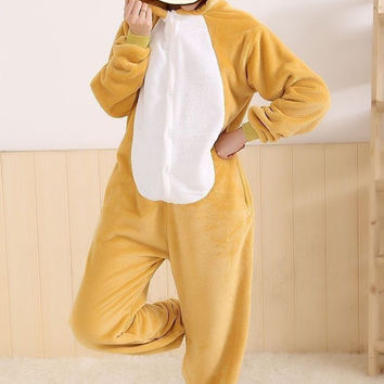 Adult Pajamas Cosplay Cartoon Animal Suits Cosplay Outfit Halloween Costume Adult Garment Cartoon Jumpsuits Unisex Animal Sleepwear