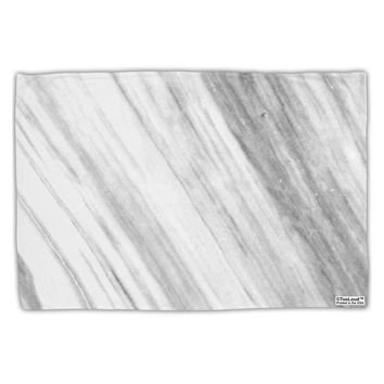 White Marble Pattern Standard Size Polyester Pillow Case All Over Print by TooLoud