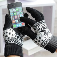 USA Warm Winter Gloves Knitted Touch Gloves Men Women Gloves Touch Screen Glove