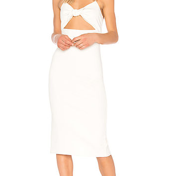 Privacy Please Hibiscus Midi in White