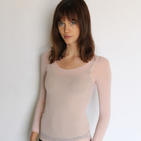 Long Sleeve Sheer Top