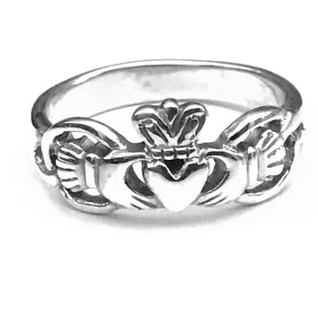 Claddagh Ring, Celtic Claddagh Ring, Sterling Silver Celtic Ring, Celtic Jewelry, Celtic Design, Celtic Knot Ring