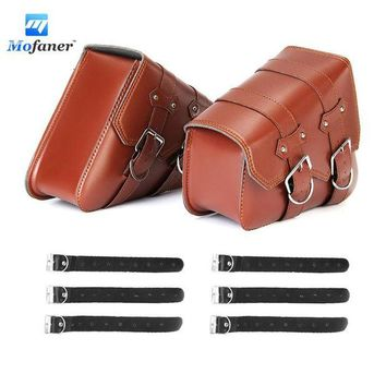 ac NOOW2 Mofaner Retro Motorcycle Saddle Bags Side L+R Storage For Harley-Sportster XL883 XL1200