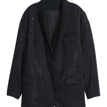 H&M - Studded Jacket - Black - Ladies