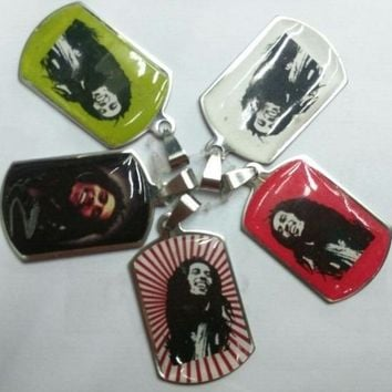 Bob Marley stainless steel pendants