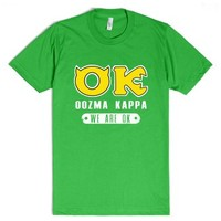 Oozma Kappa: We're Okay!-Unisex Grass T-Shirt