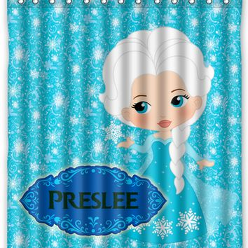 Princess Elsa Disney Frozen Personalized Shower Curtain