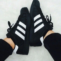 """Adidas"" Women Fashion Shell-toe Flats Sneakers Sport Shoes"