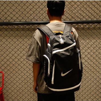 NIKE Shoulder bag female backpack male computer bag junior high school student bag take a large capacity leisure travel bag
