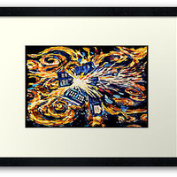 Van Gogh Tardis Doctor Who Big Exploded art Painting FRAMED PRINTS, POSTER AND CARDS