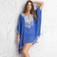Womens Beach Dresses Tunic Beach Wear Swimwear Cover Up