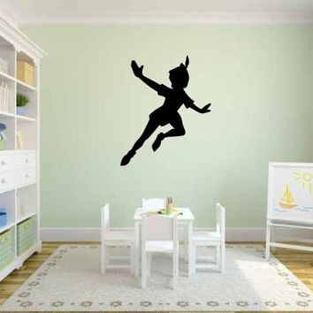 Peter Pan Silhouette Vinyl Wall Decal Sticker Graphic