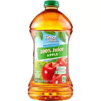 Great Value 100% Apple Juice, 96 Fl Oz - Walmart.com