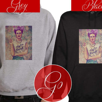 Frida Kahlo Duft Punk Hoodie Sweatshirt Sweater Shirt black and white Unisex