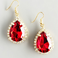 Elizabethan Ruby Earrings