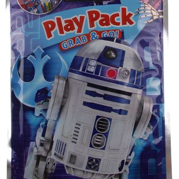 Star Wars Play Pack R2D2 Grab & Go Set 8 Coloring Book Crayons Stickers