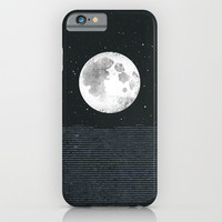 Grey Moonscape iPhone & iPod Case by Amelia Senville