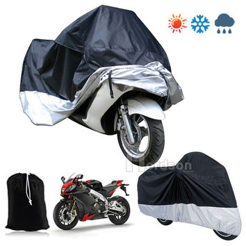S M L XL XXL Large Motorcycle Cover Moto Bike Moped Scooter Waterproof UV Dust Protector Rain Cover