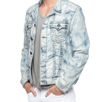 True Religion Jimmy Reef Super T Mens Denim Jacket - Mineral Reef