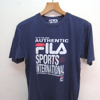 25% SALES ALERT Vintage 90's Fila Sports International Shirt Street Wear Swag Hip Hop Size M
