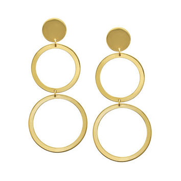 LANA Fifteen 14k Double-Drop Earrings
