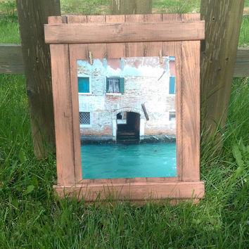 8x10 Vertical Distressed Clothespin Picture Holder Frame