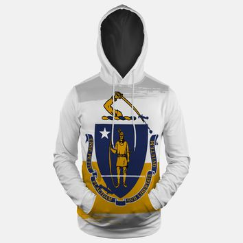Massachusetts State Flag Hoodie (Ships in 2 Weeks)