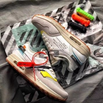 THE 10 : OFF WHITE x Nike Air Max 1 BespokeIND Sail White Sport Running Shoes - Sale