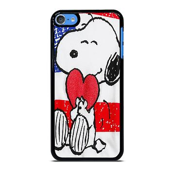 SNOOPY HEARTS AMERICA GIRLS PEANUTS iPod Touch 7 Case