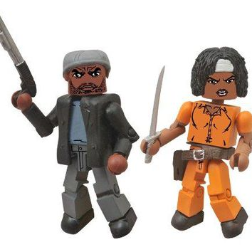 The Walking Dead Minimates Tyreese and Prison Michonne Figure 2-Pack