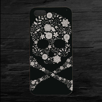Flower Sugar Skull Photo iPhone 4 and 5 Case