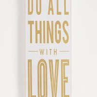 All Things With Love Wooden Wall Hanging | Shining Bright | rue21