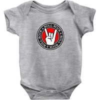 ROCK & ROLL – BLACK – RED – WHITE – DESIGN – BOBBYG Baby Onesuit