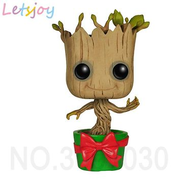 letsjoy tree man baby drop shipping pop  Avenger Justice league guardians of  THE galaxy 2 Rocket model plant Flower anime