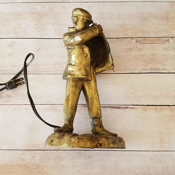Pablo Rigual bronze art deco lamp/ Rigual Lamp/ Bronze Sculpture/ Brass Lamp/ Bronze Lamp/ Gift for man/ Luxury Gift/ Smoking Man/ Art Deco
