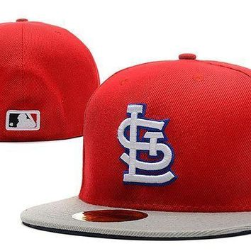St. Louis Cardinals New Era Mlb Authentic Collection 59fifty Hat Red Grey