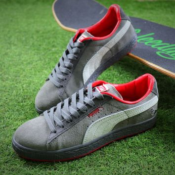 PUMA Suede Bboy Fabulous Classic SOCK Pigeon Shoes Grey Sneaker