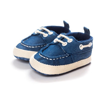 Infant Baby Toddler Boys Soft Sole Crib Shoes PreWalker Sneaker 0-18 M Sneaker NW