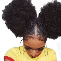 Sunny Queen Afro Kinky Curly Lace Closure With Baby Hair 100% Human Remy Hair Natural Color Sunny Queen