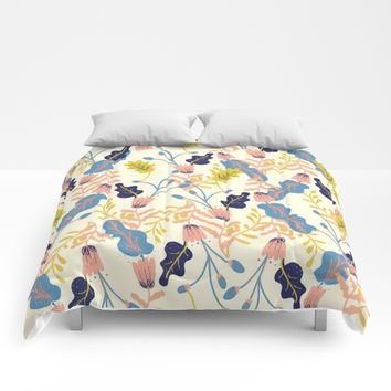 Pastel Floral Pattern Comforters by chotnelle