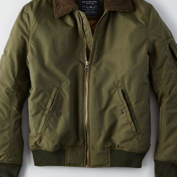 AEO Men's Aviator Jacket (Olive)